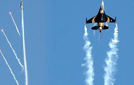 F-16'ya zeybek oynattılar!