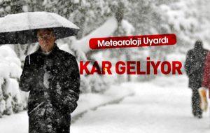 Türkiye kar yağışının etkisine giriyor!