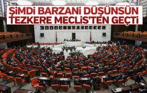Meclis'te tezkere oylaması