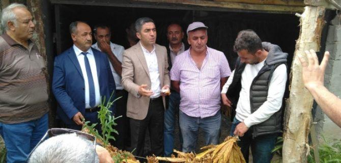 Başkan Kiraz, Kendini Yakmak İsteyen Çiftçiyi Ziyaret Etti