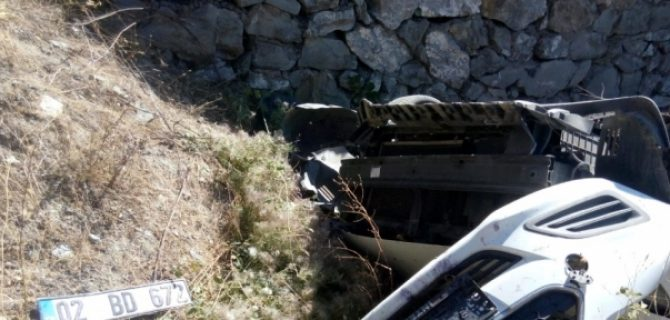 Malatya-Çelikhan Yolunda Kaza: 1 Yaralı