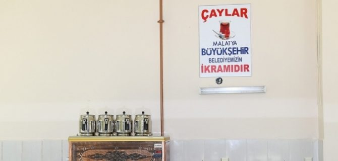 Malatya'da Taziye Çadırlarında Ücretsiz Çay Hizmeti